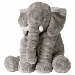Ikea JATTESTOR Soft Toy Elephant Grey